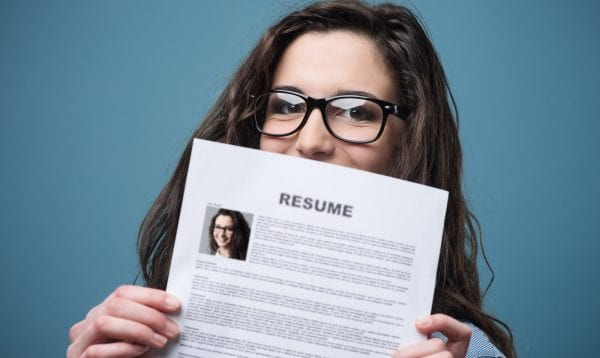 Young Woman Holding Her Resume