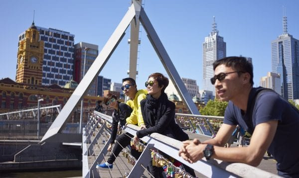 Travelers On Bridge